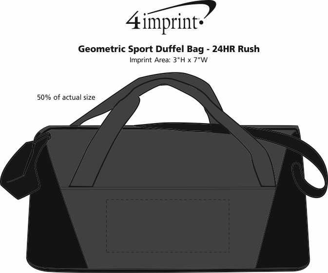 Imprint Area of Geometric Sport Duffel Bag - 24 hr