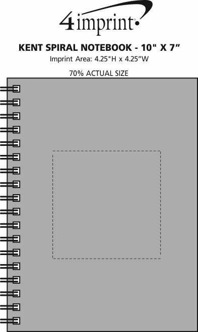 "Imprint Area of Kent Spiral Notebook - 10"" x 7"""