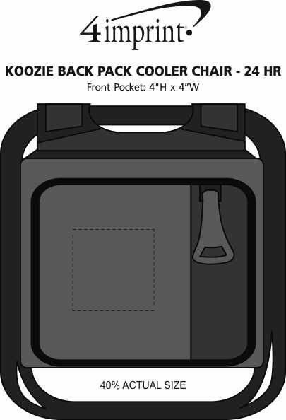Imprint Area of Koozie®  Backpack Cooler Chair - 24 hr