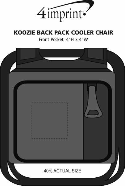 Imprint Area of Koozie®  Backpack Cooler Chair