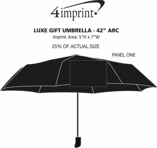 "Imprint Area of Luxe Gift Umbrella - 42"" Arc"