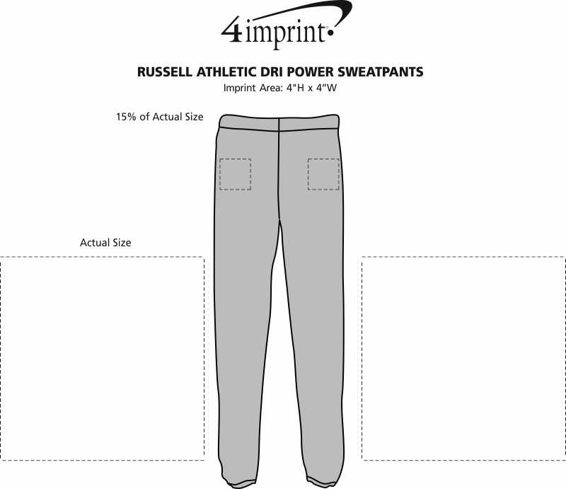 Imprint Area of Russell Athletic Dri Power Sweatpants