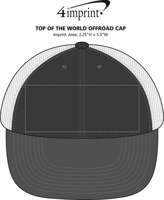 Imprint Area of Top of The World Offroad Cap