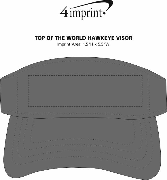 Imprint Area of Top of The World Hawkeye Visor