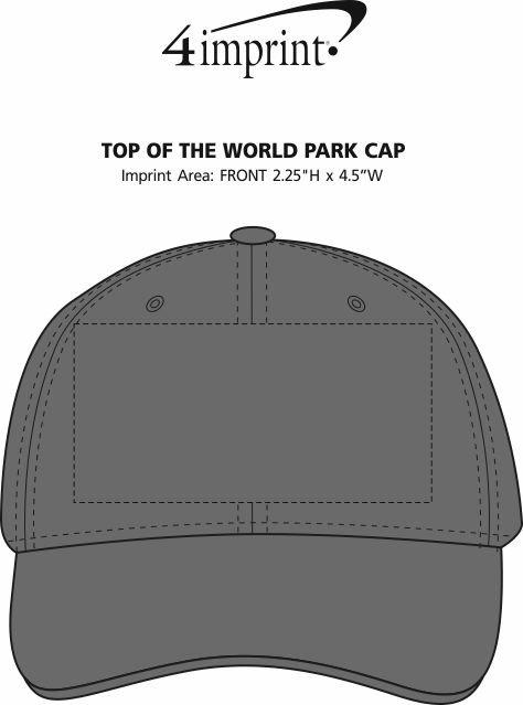 Imprint Area of Top of The World Park Cap