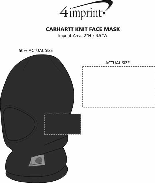 Imprint Area of Carhartt Face Mask