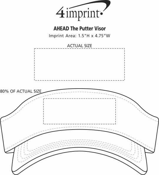 Imprint Area of AHEAD The Putter Visor