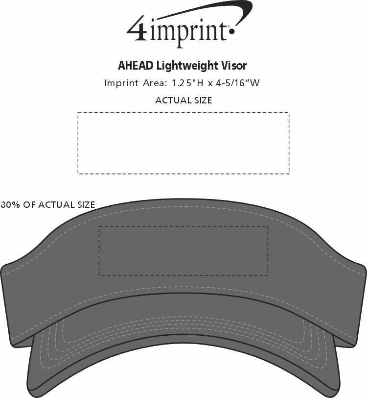 Imprint Area of AHEAD Lightweight Visor