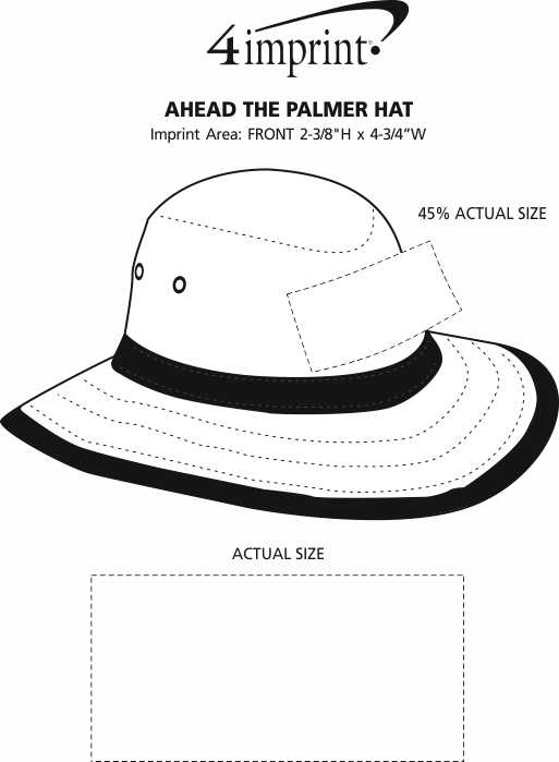 Imprint Area of AHEAD The Palmer Hat