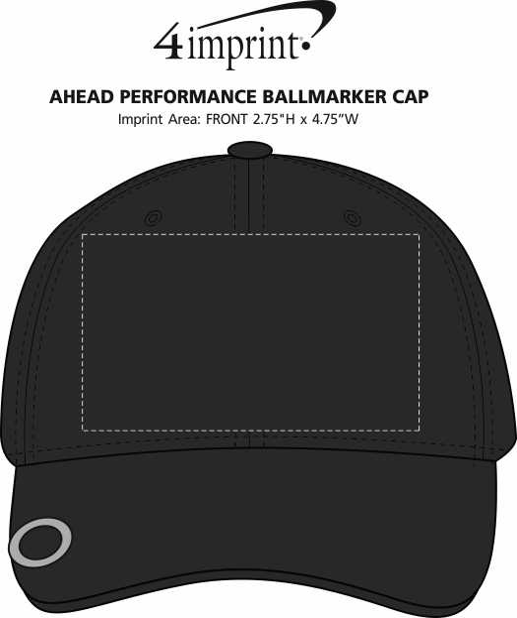 Imprint Area of AHEAD Performance Ballmarker Cap