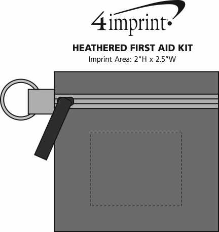 Imprint Area of Heathered First Aid Kit