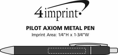 Imprint Area of Pilot Axiom Metal Pen