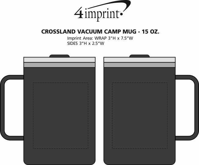 Imprint Area of Crossland Vacuum Camp Mug - 15 oz.