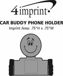 Imprint Area of Car Buddy Phone Holder