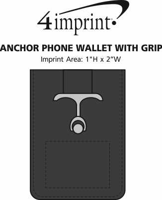 Imprint Area of Anchor Phone Wallet with Grip
