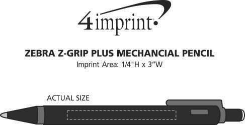 Imprint Area of Zebra Z-Grip Plus Mechanical Pencil