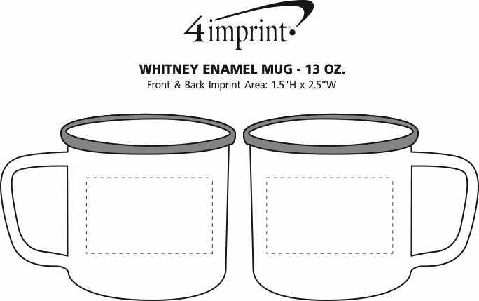 Imprint Area of Whitney Enamel Mug - 13 oz.
