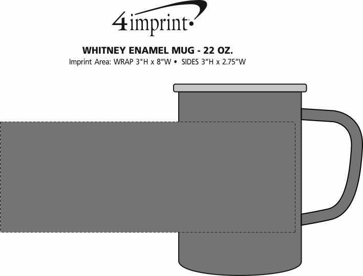Imprint Area of Whitney Enamel Mug - 22 oz.