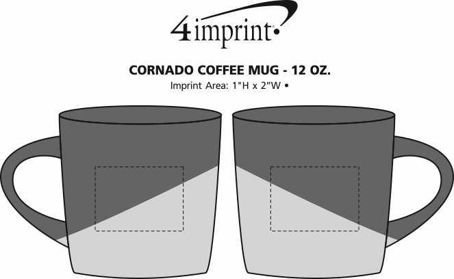 Imprint Area of Cornado Coffee Mug - 12 oz.