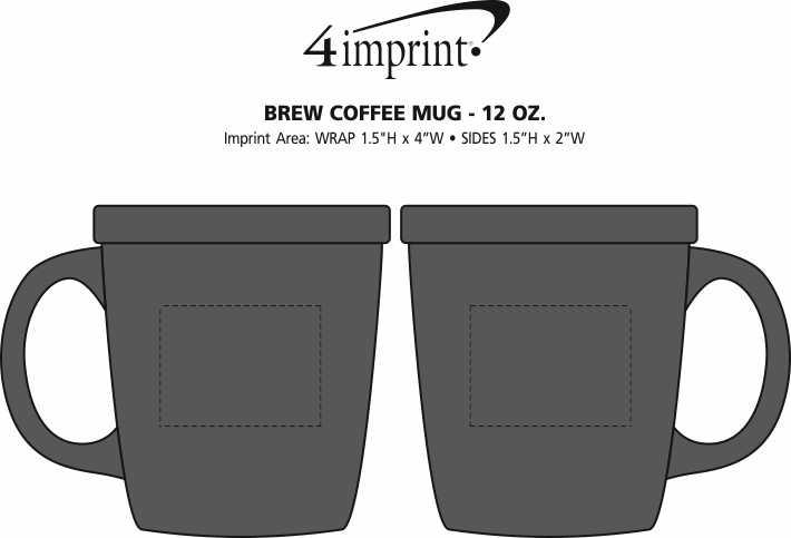 Imprint Area of Brew Coffee Mug - 12 oz.