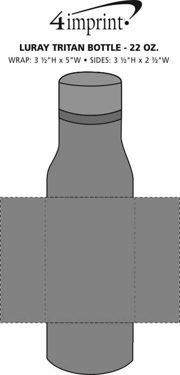 Imprint Area of Luray Tritan Bottle - 22 oz.