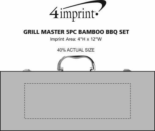 Imprint Area of Grill Master 5-Piece Bamboo BBQ Set