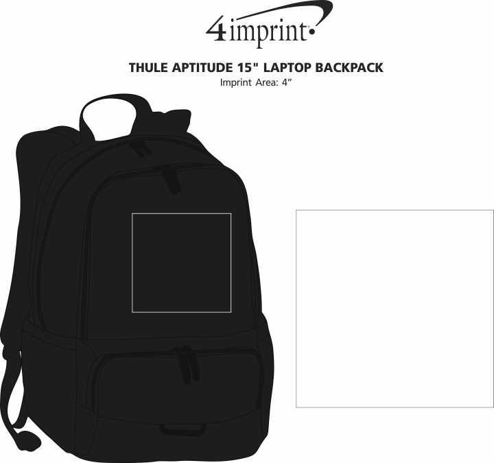 "Imprint Area of Thule Aptitude 15"" Laptop Backpack"