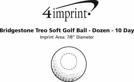 Imprint Area of Bridgestone Treo Soft Golf Ball - Dozen - Factory Direct