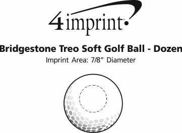Imprint Area of Bridgestone Treo Soft Golf Ball - Dozen