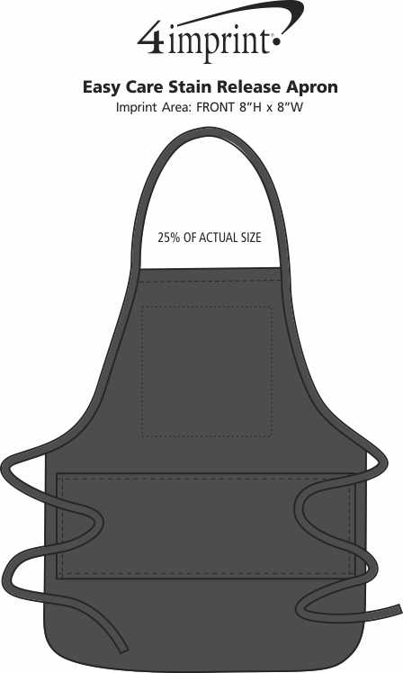 Imprint Area of Easy Care Stain Release Apron