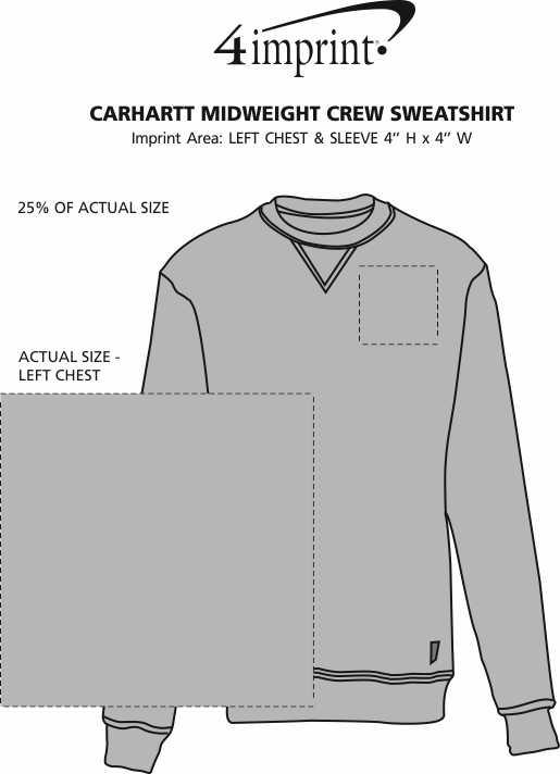 Imprint Area of Carhartt Midweight Crew Sweatshirt