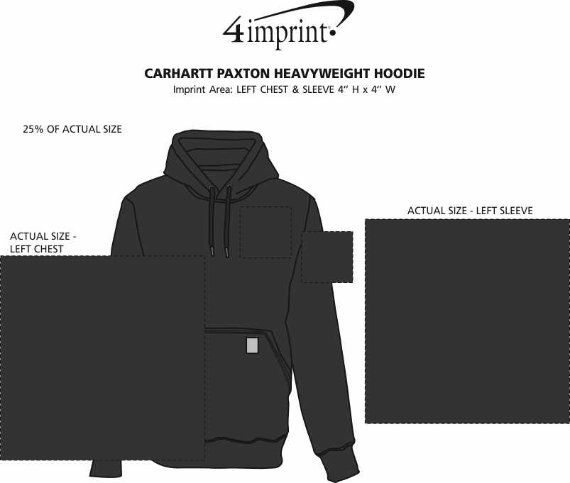 Imprint Area of Carhartt Paxton Heavyweight Hoodie