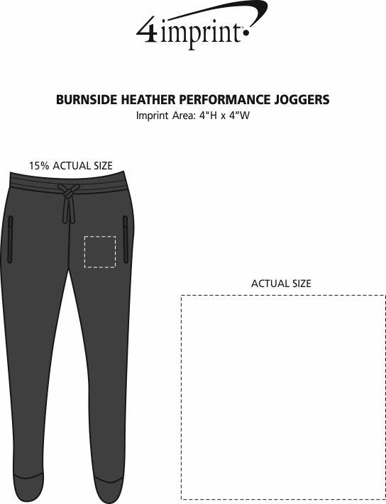 Imprint Area of Burnside Heather Performance Joggers