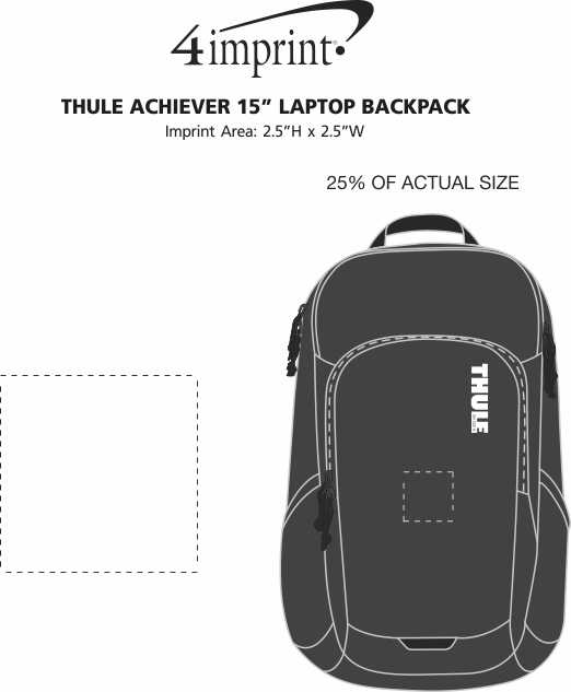 """Imprint Area of Thule Achiever 15"""" Laptop Backpack"""