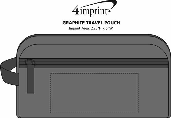 Imprint Area of Graphite Travel Pouch