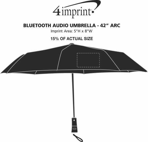 """Imprint Area of Bluetooth Audio Umbrella - 42"""" Arc"""