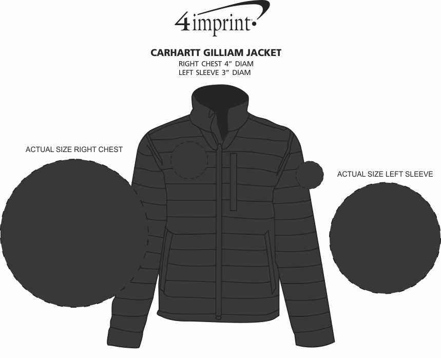 Imprint Area of Carhartt Gilliam Jacket