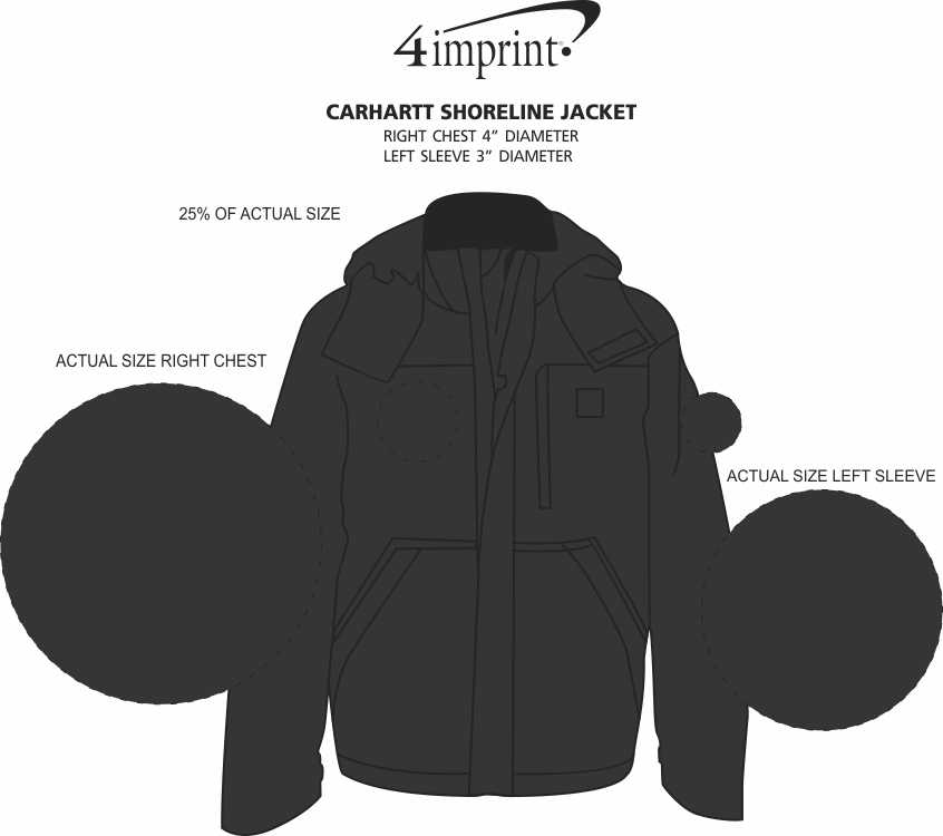Imprint Area of Carhartt Shoreline Jacket