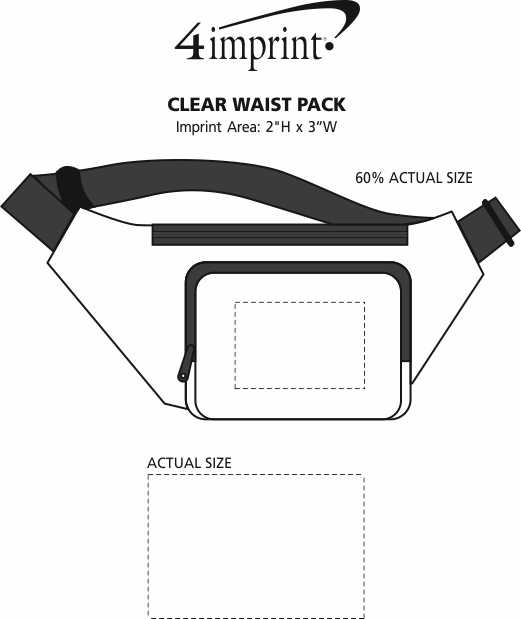 Imprint Area of Clear Waist Pack
