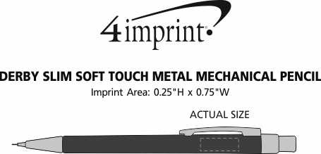 Imprint Area of Derby Slim Soft Touch Metal Mechanical Pencil