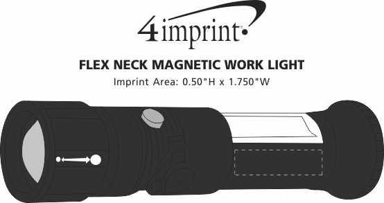 Imprint Area of Flex Neck Magnetic Work Light