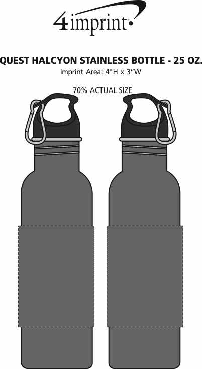 Imprint Area of Quest Halcyon Stainless Bottle - 25 oz.