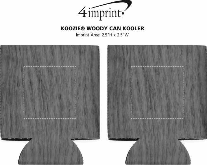 Imprint Area of Koozie® Woody Can Kooler