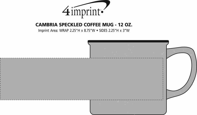 Imprint Area of Cambria Speckled Coffee Mug - 12 oz.
