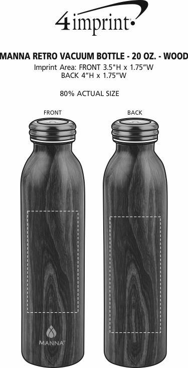 Imprint Area of Manna Retro Vacuum Bottle - 20 oz. - Wood