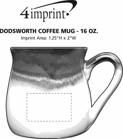 Imprint Area of Dodsworth Coffee Mug - 16 oz.
