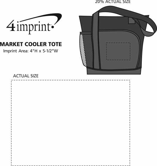 Imprint Area of Market Cooler Tote