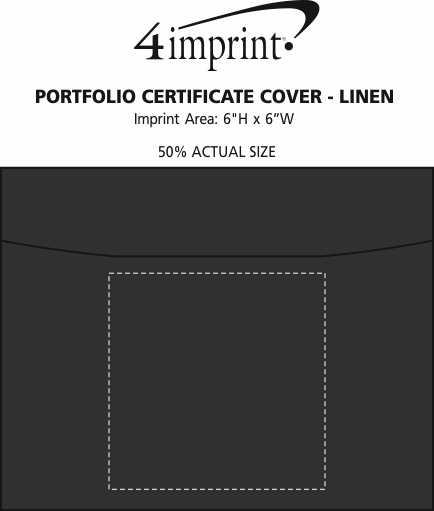 Imprint Area of Portfolio Certificate Cover - Linen