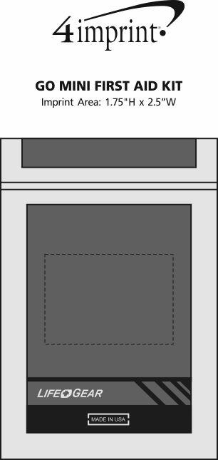 Imprint Area of Go Mini First Aid Kit