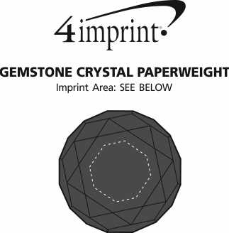 Imprint Area of Gemstone Crystal Paperweight